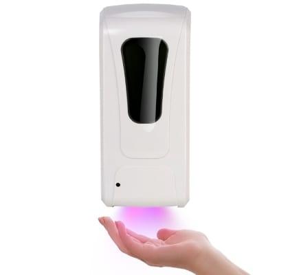 Dispenser automatico con sensore IR per liquido - Gel igienizzante mani - Luce UV